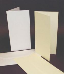 50 Pack - DL Ivory Card Blanks & Envelopes